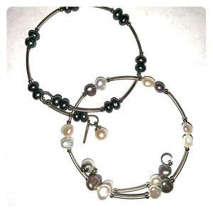 2 Vantel Pearl wrap bracelets